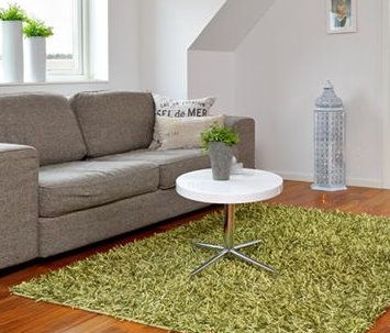Grön matta vardagsrum