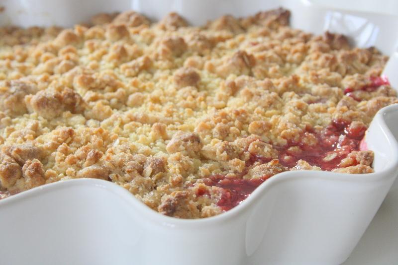 rabarber smulpaj havregryn recept