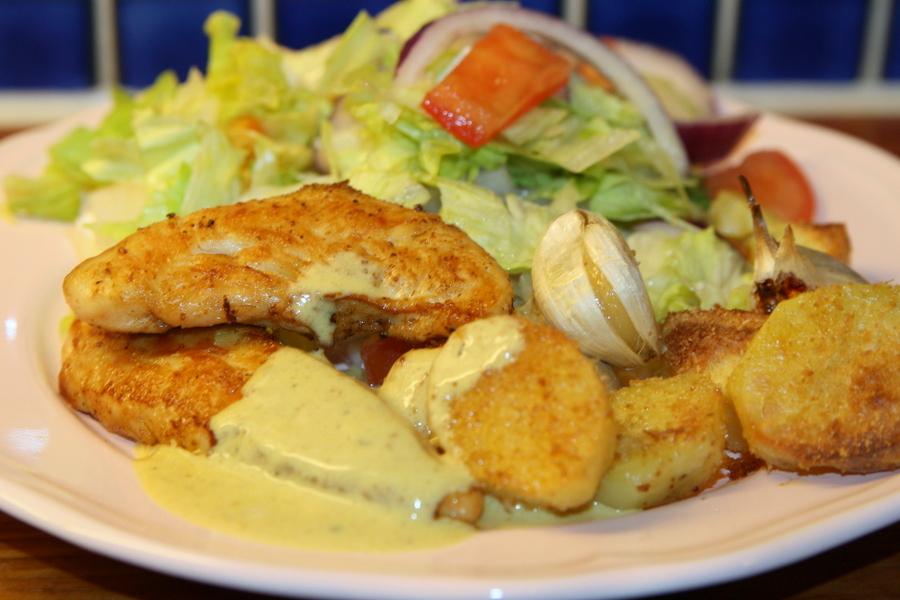 kycklingfile med potatis recept