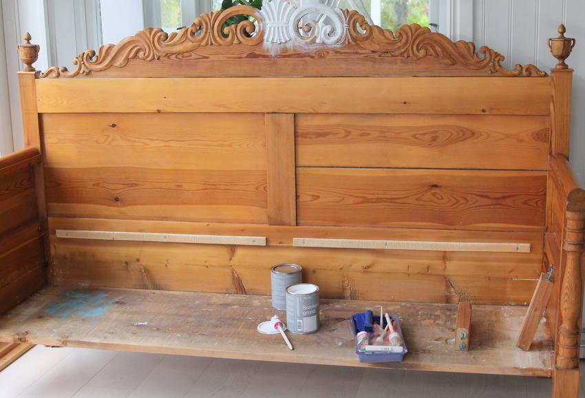 Svart Kokssoffa : Renovering av gammal kokssoffa  Jennys Matblogg