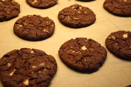 cookies med vit choklad