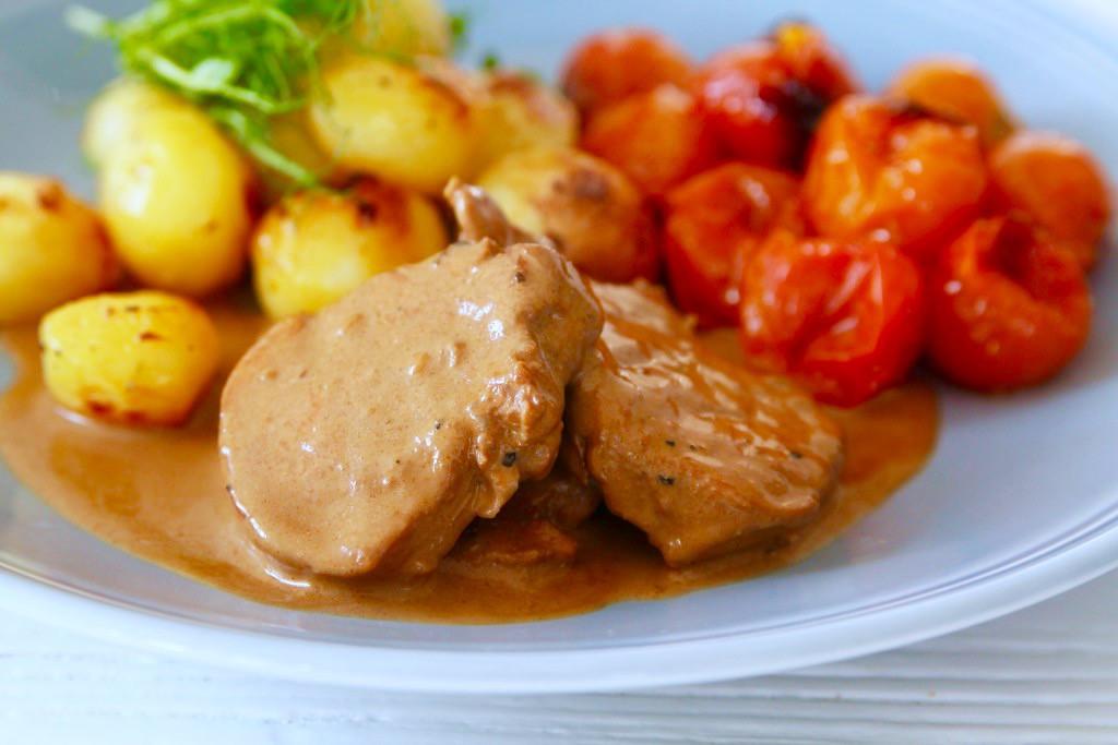 fläskfile och potatis