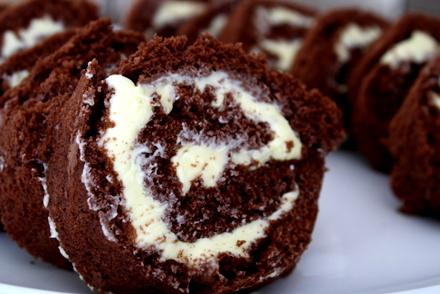 glutenfri rulltårta choklad