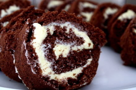 rulltårta med chokladsmörkräm