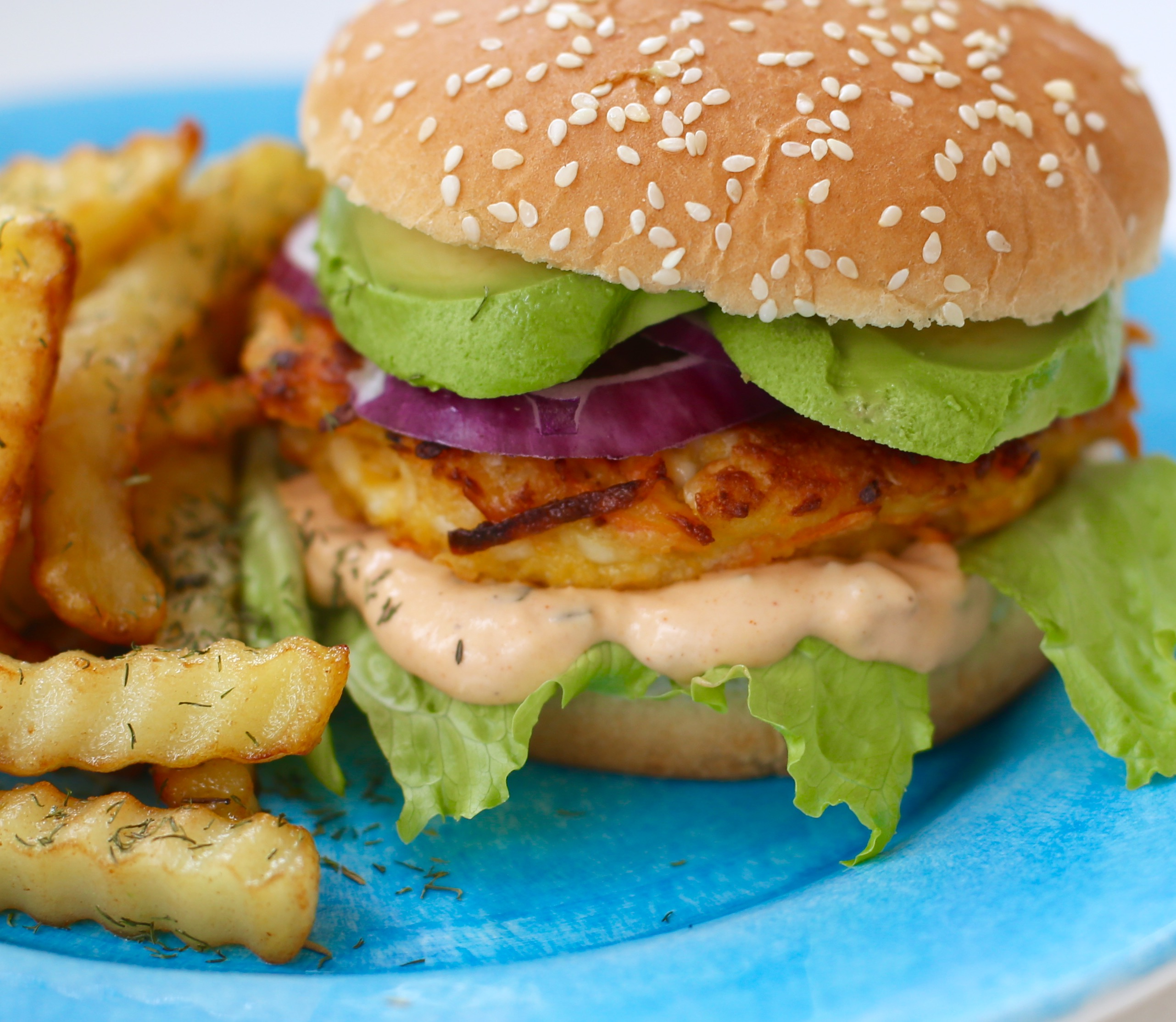 vegetarisk hamburgare recept