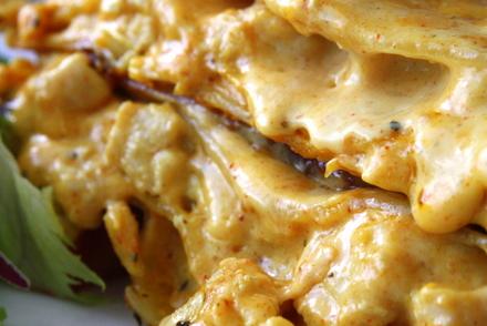 kycklingfärs lasagne recept