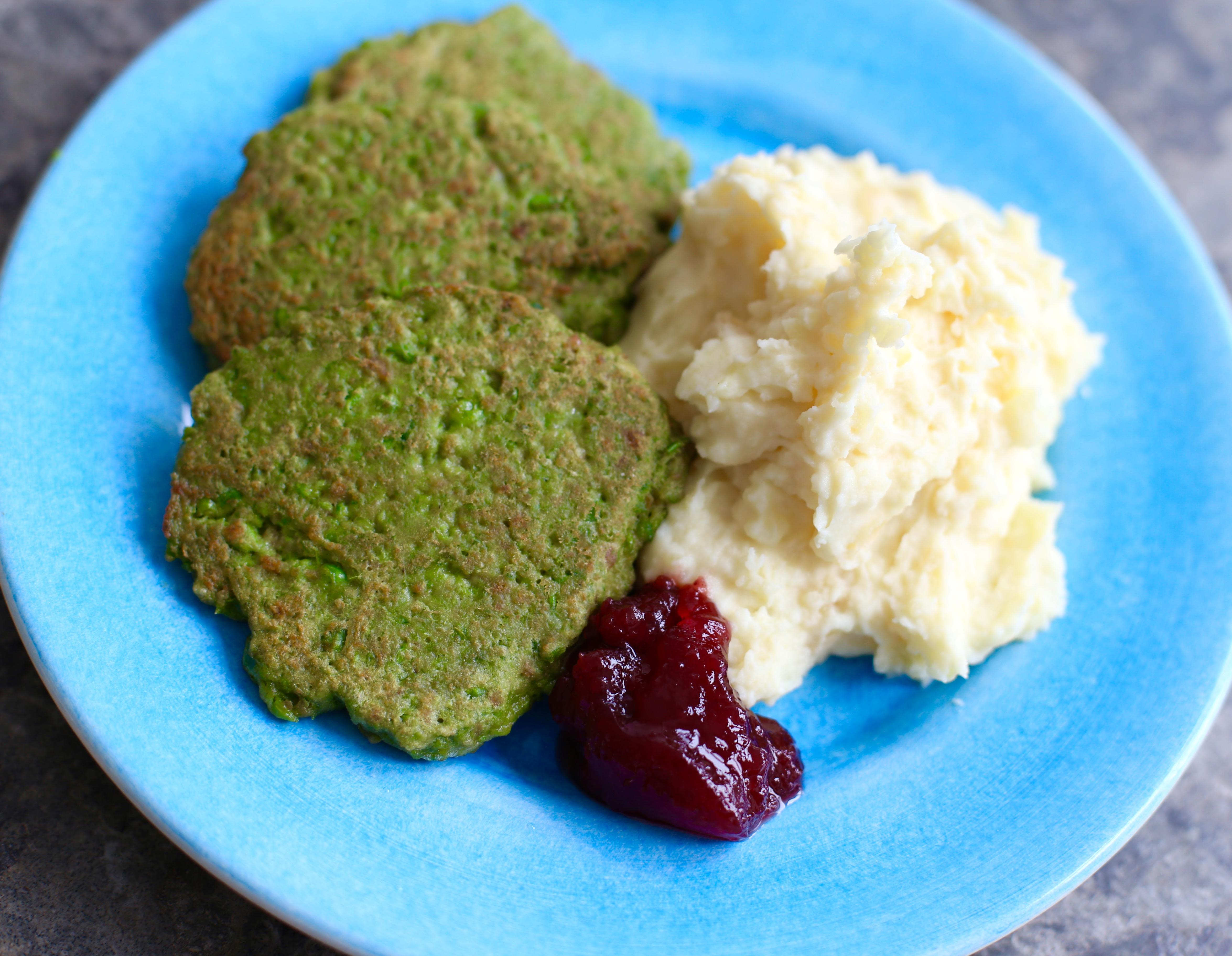 gröna ärtbiffar recept