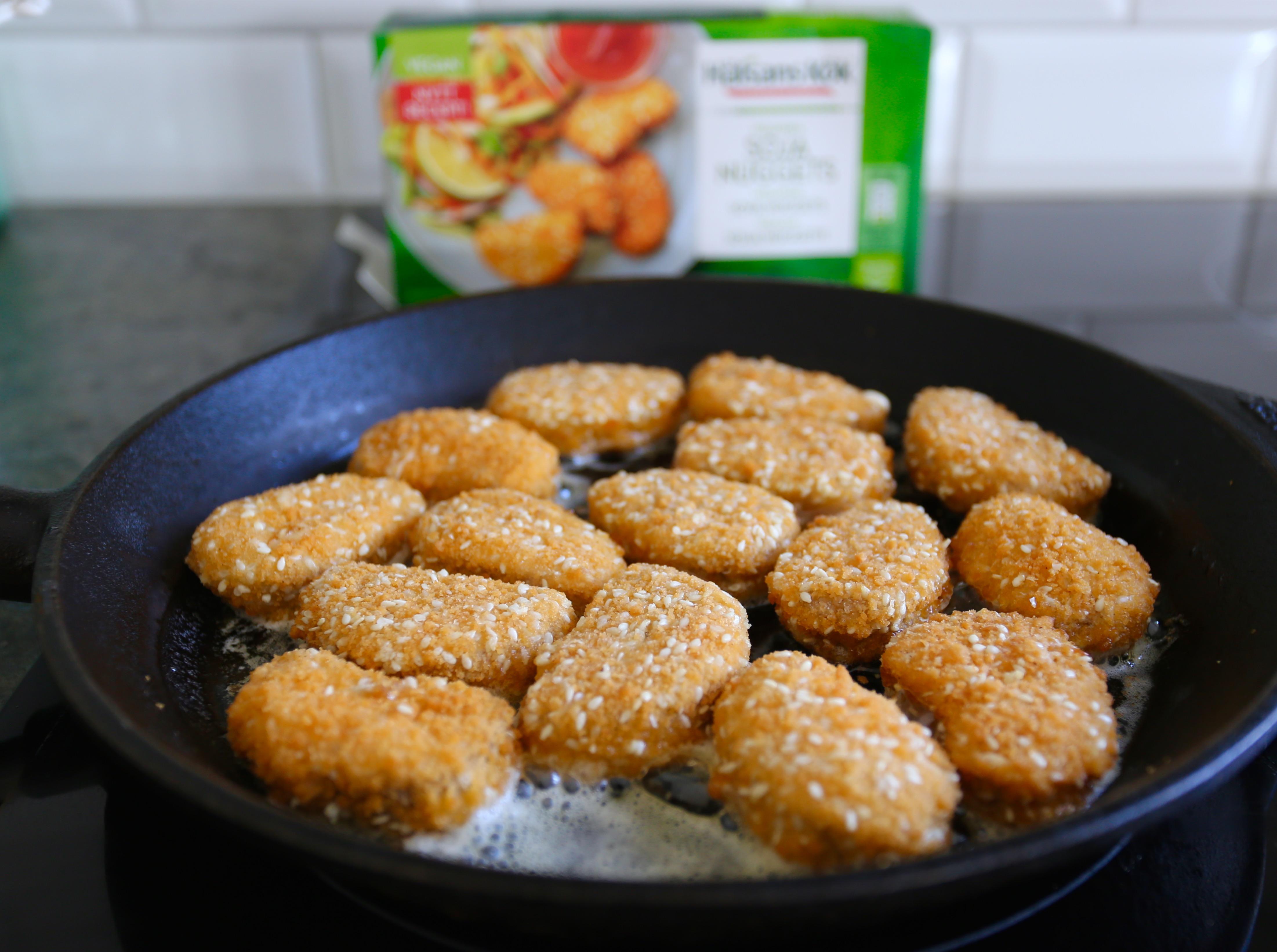 vegetariska nuggets recept