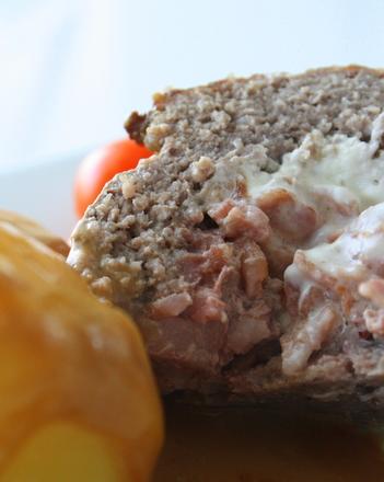 köttfärslimpa med bacon