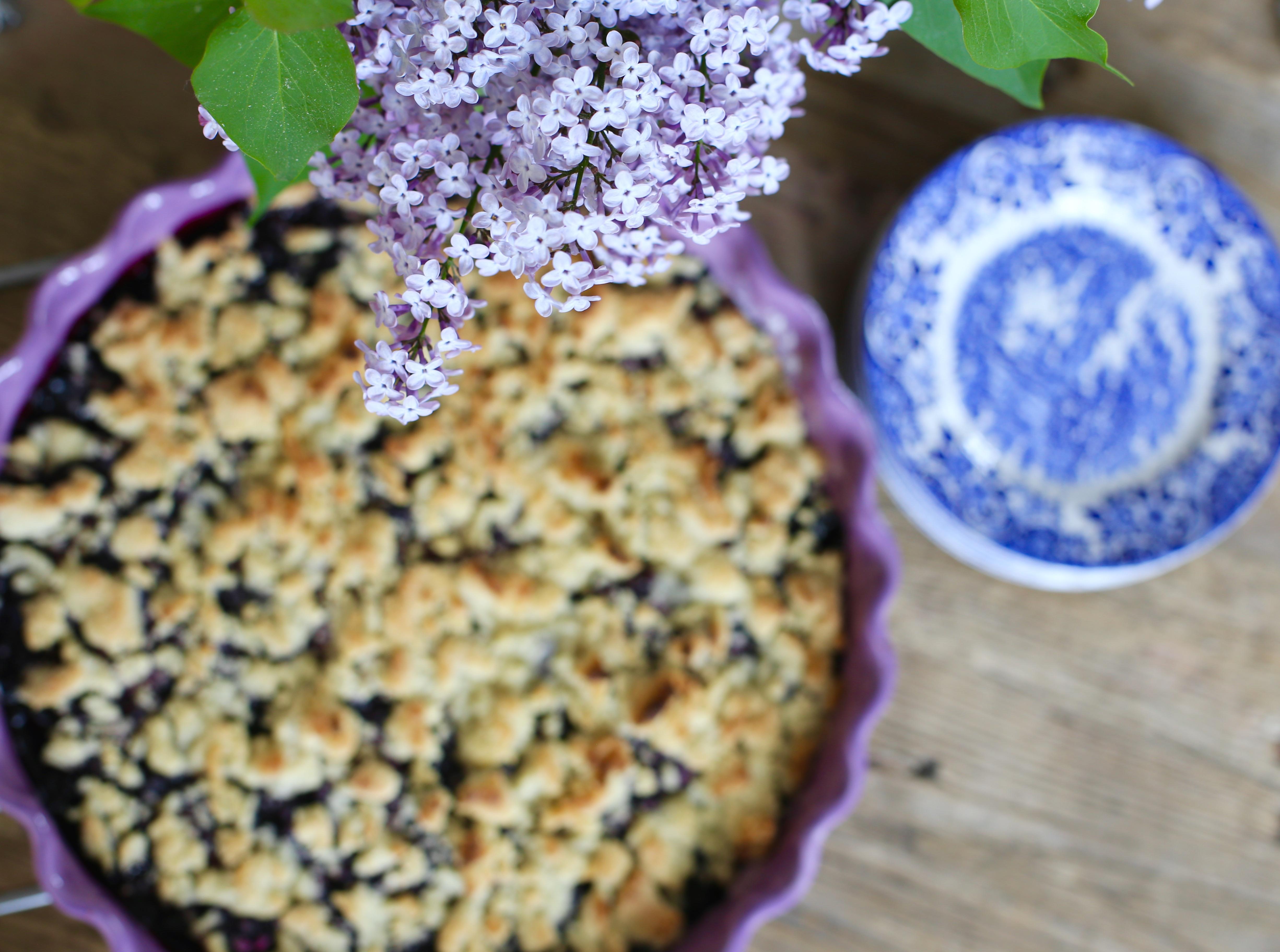 paj recept blåbär
