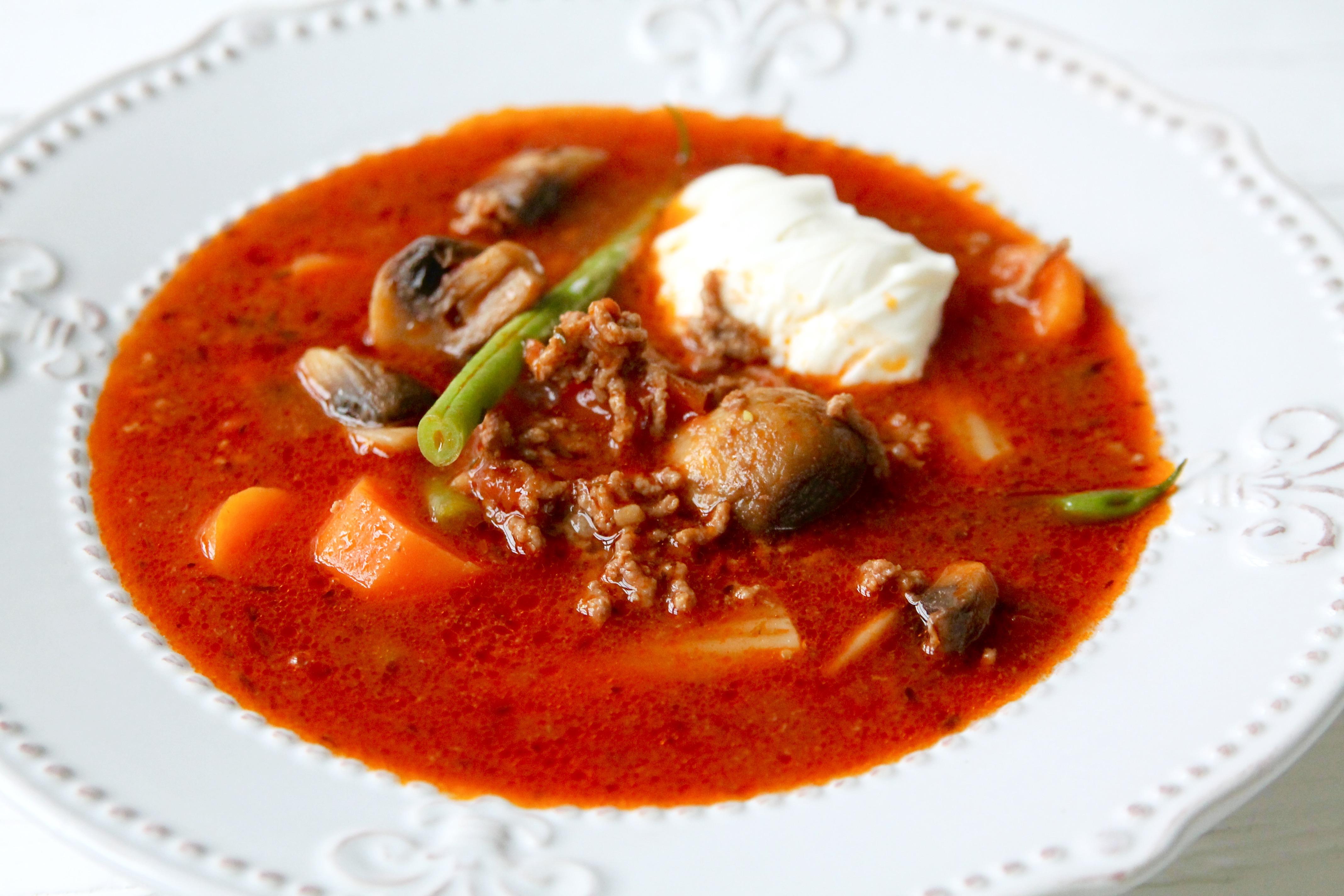 soppa med köttfärs