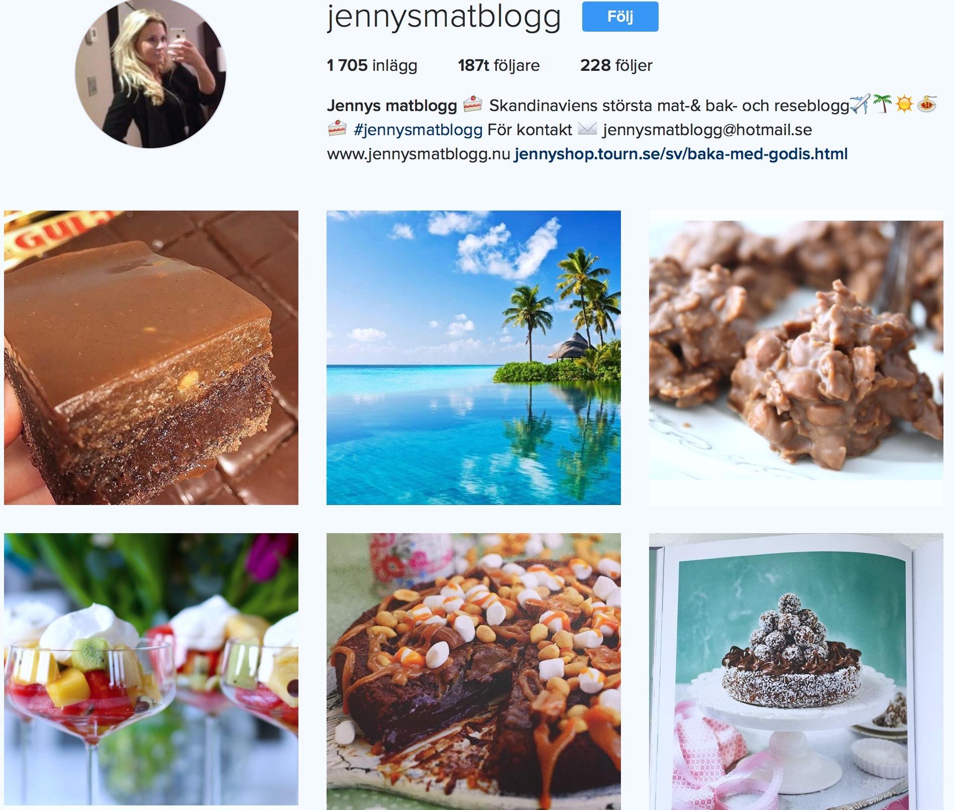 jennys matblogg instagram
