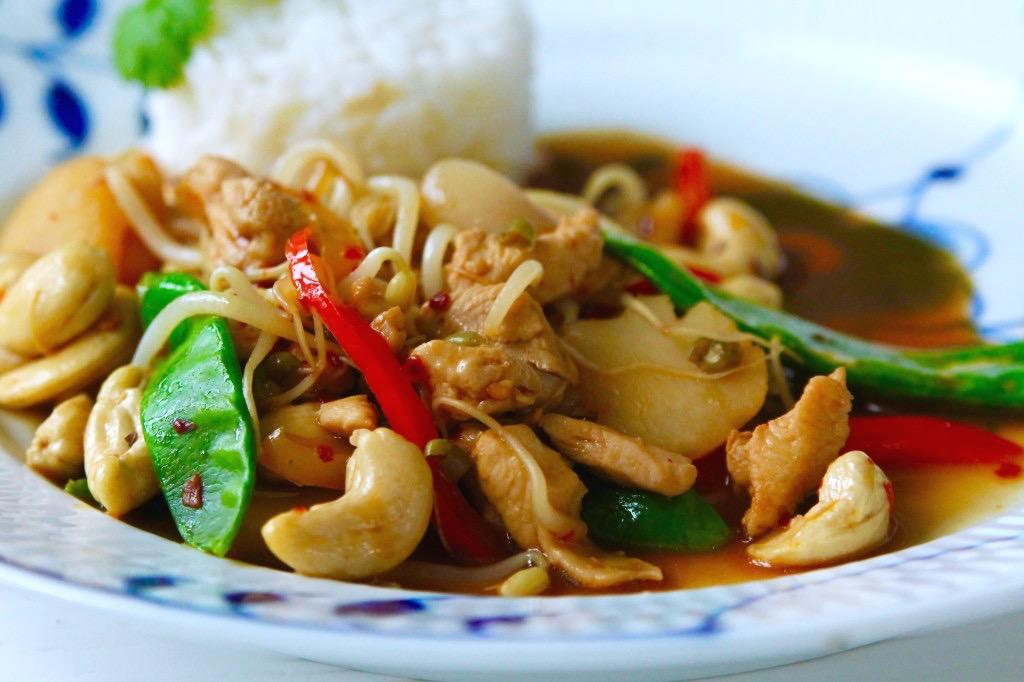 thai kyckling recept